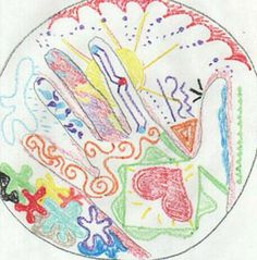 Art Therapy for Bereaved Adolescents - This can also be done at home by loving and supporting family / friends.