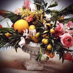 delightful combo of flowers and fruit