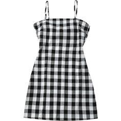 Slip Tie Back Plaid Dress Black White (1415 RSD) ❤ liked on Polyvore featuring dresses, tie back dress, slip dresses, black white dress, tartan plaid dress and plaid dress