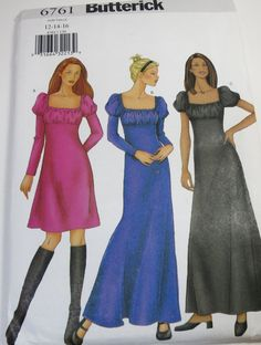 Butterick 6761  Uncut Sewing patternMisses Dress in by cositasusa