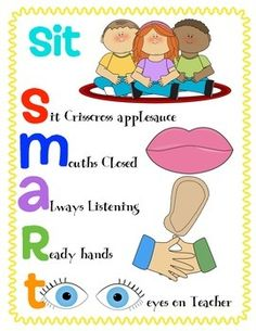 Anchor Poster to show the expectation of sitting SMART Freebie...ENJOY!Credits: My Cute Graphics.com Kevinandamanda.com/fontsThank you for following and downloading.I hope this brings some sunshine your way!