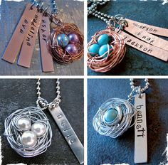 Look what I'm getting for Mother's Day!!  $14.99 Beautiful Mama's Nest Necklace With Personalized Charms - In Time For Mother's Day! at VeryJane.com