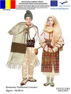 Romanian traditional clothes Traditional Dresses, Traditional Art, Folk Costume, Costumes, Young Frankenstein, Ethnic Outfits, Folk Embroidery, Moldova, European History
