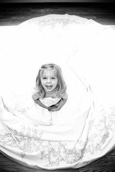 My beautiful daughter in my wedding dress.