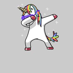 Dabbing Unicorn Shirt Dab Hip Hop Funny Magic Pink - NeatoShop
