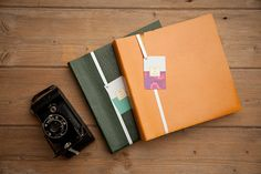 Leather photograph album by HideandTweed on Etsy