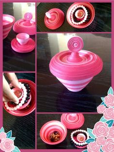 Double decker quilled jewelry box Check it out  http://vikalpah.blogspot.com/2013/12/double-decker-quilled-jewelry-box.html #quilling