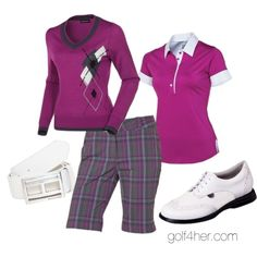 """""""Vivid Violet Golf Outfit"""" by golf4her on Polyvore"""