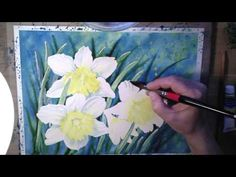 Daffodils in Watercolor - painting process - YouTube