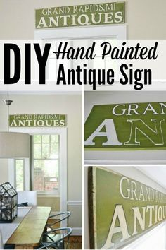 DIY hand painted antique sign - The easy way!!