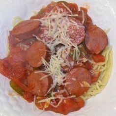 Good Kielbasa Recipe - I used diced tomatoes instead of stewed.