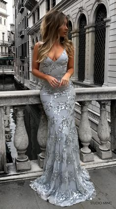 SILVER JADORE DRESS BY STUDIO MINC #BACKLESS #PROM #FORMAL #DRESS #SEQUIN