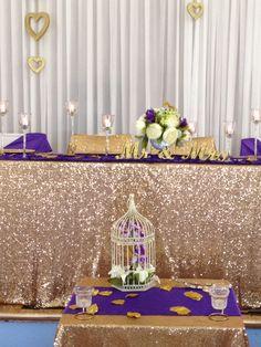 Sequins, Gold, U0026 Glitter, Peonies,purple, Small Weddings