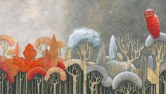 "thewoodbetween:  Michelangelo Rossato - Illustration from the picture book ""Biancaneve"" (Il Gioco di Leggere Edizioni, 2015): a retelling of Brothers Grimm's classic ""Snow White""."