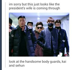 I honestly thought the presidents wife here would be Kai cause D.O would be the president from Hell. But oh well