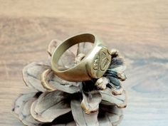 Vintage Copper-zinc Ring for Him Solid Ring by GuestFromThePast