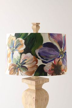 Anthropologie inspiration: DIY fabric lampshade - buy the pain! #crafts #home #decor