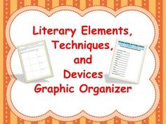 This Omega English product contains a two page graphic organizer that helps students record the literary element, technique, or device used by the author in the text they are currently reading. Students then analyze the evidence selected.  It is a versatile graphic organizer than can be used with any text.