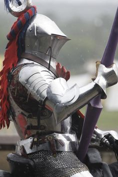 medieval re-enactor in armor