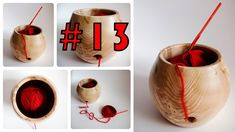 #13 Woodturning a yarn bowl - great gift idea