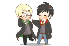 Chibi Drarry - Not funny! by Cremebunny.deviantart.com on @deviantART