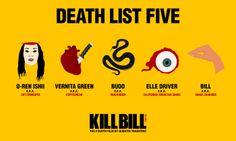 KILL BILL | Fan Art | 5 Ways to Die | via facebook.com