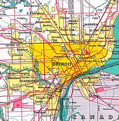 awesome Detroit Metro Map