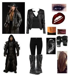 """""""The Undertaker Gender Bend"""" by mrsromanreigns916 ❤ liked on Polyvore featuring River Island, Everlast and Boohoo"""