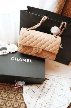 chanel spring collection - pink, beige handbag