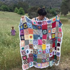 Here it is! The very first #littlesquaresofstrength blanket!! What an amazing journey it has been receiving and joining all of these beautiful squares from women all over the world . Squares not only from Australia but from as far as Switzerland the UK the U.S. Portugal Germany the Netherlands Brazil New Zealand and many countries in between! All handcrafted with love and all so unique . All of these #littlesquaresofstrength have come together to be sent to a woman who is having a tough time…