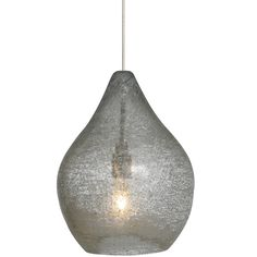 The Relic No. 1 Pendant features a pear-shaped Amber, Clear, Green, or Orange glass shade with playful silver accents. One 35 watt 12 volt GY6.35 xenon bulb is included. 5.4 inch width x 7 inch height x 79 inch maximum length. Includes 72 inch coordinating adjustable cord. ETL listed.