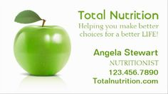 Classy Nutritionist with Simple Shiny Fresh Green Apple Business Cards http://www.zazzle.com/nutritionist_with_apple_business_card-240957918230217730?design.areas=%5Bbusiness_front_horz%5D&rf=238835258815790439&tc=GBCHealth1Pin