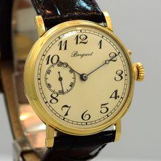 1920's Vintage Breguet 18K Yellow Gold Pocket Watch Converted to Wrist Watch