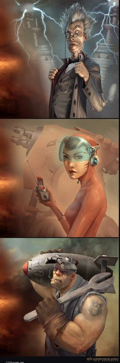 Character Illustrations by Kai Spannuth ★ Find more at http://www.pinterest.com/competing/