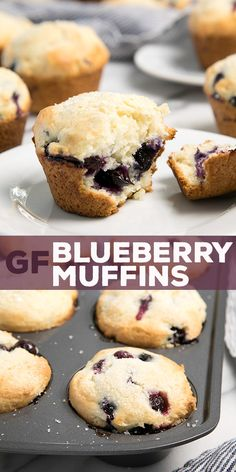 These classic gluten free blueberry muffins are crisp on the outside, soft and tender inside. So easy to make, and they taste just like they came from your favorite bakery!