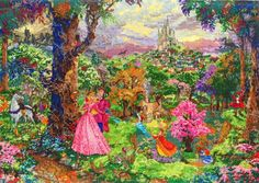 MCG Textiles 52508 Sleeping Beauty Cross Stitch Disney Dreams Collection Kit by Thomas Kinkade