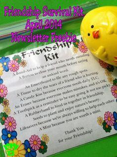 Kandy Kreations: Friendship Survival Kit April Free Printable
