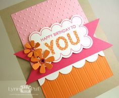 The Queen's Scene: CTD#225 - Happy Birthday to YOU - love pink and orange together
