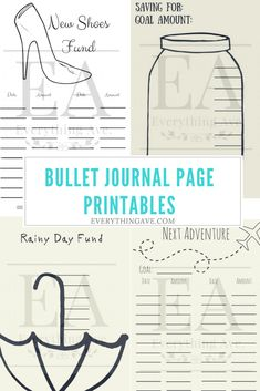 Single printable pages for your bullet journal! Decorate, colour, doodle however you want :)