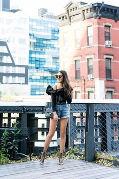 Chic Styling with Denim Shorts
