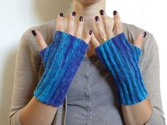 Deep Blue Sea Silver Sparkle: Hand knit by stitchandpurl on Etsy