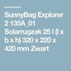 SunnyBag Explorer 2 135A_01 Solarrugzak 25 l (l x b x h) 320 x 220 x 420 mm Zwart