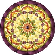 Victorian Gem Stained Glass Traditional Pattern |