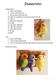 Crochet Birds, Diy Crochet, Crochet Hats, Fingerless Gloves, Arm Warmers, Macrame, Crochet Necklace, Knitting, Crafts