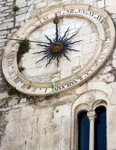 Split Historical sun dial clock Croatia