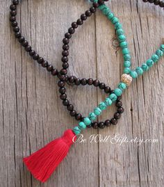 One Only 108 Bead Mala Meditation Necklace by Be Well Gifts
