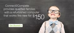 Connect2Compete provides qualified families with a computer for $150