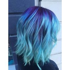 Light Blue Hair Dye ❤ liked on Polyvore featuring beauty products, haircare, hair color and hair