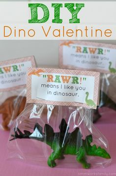 So fun! Dino Valentine DIY + printable