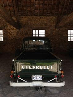 Old School #Chevrolet Pickup. Clean as it gets. #LoveIt #Chevy - www.rivertonchevy.com